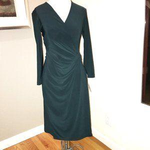 Anne Klein dark teal stretch dress